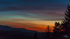 after sunset (jk-photos) Tags: eichgraben sunset aftersunset beautifulsky intheevening colours red orange black austria wienerwald nikon d800 lightblue paintedsky