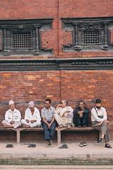 Mens Club (cody.waldon) Tags: nepal street people men faces group colour kathmandu brick travel scene different vsco fuji xt1 explore