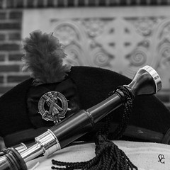 335/366 - St. Andrew's Day (sdgiere) Tags: dubuque iowa standrewsday bagpipes piper celticcross glengarry hackle