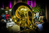 2016 - Mexico - San Luis Potosi - Plaza de Armas Musician (Ted's photos - For Me & You) Tags: 2016 cropped mexico nikon nikond750 nikonfx sanluispotosi tedmcgrath tedsphotos tedsphotosmexico vignetting slp tuba brass reflection band musician bokeh instrument sanluispotosiphotos nightscene