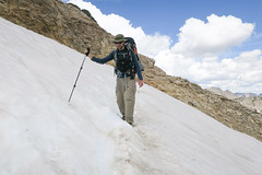 Snow Crossing (GlobalGoebel) Tags: grand teton national park canon powershot g9x wyoming backcountry hiking camping snow crossing tetoncresttrail