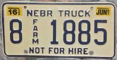 NEBRASKA 1987 ---16 TON FARM TUCK PLATE (woody1778a) Tags: nebraska usa licenseplate nonpassenger mycollection myhobby numberplate registrationplate alpca1778 alpca collection oddball