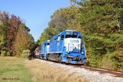 GRYR 2651 @ Scobey, MS (Michael Polk) Tags: grenada railroad emd gp382 e8a gatx lease leaser gryr train freight scobey mississippi ms subdivision milepost 480 covered wagon