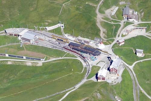 Kleine Scheidegg Bernese Oberland Switzerland Aerial View