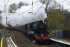 British Railways Black 5 4-6-0s 44871 and 45407 hammer through University (Oz_97) Tags: 44871 45407 university britishrailways