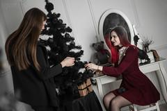 IMG_0055 (rodinaat) Tags: new year happy holiday tree christmas skull goat satan brutal metal metalhead longhaie redhair red black