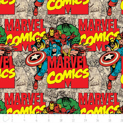 """(Camelot Cottons) Marvel Comic II, Characters And Logo In Multi • <a style=""""font-size:0.8em;"""" href=""""http://www.flickr.com/photos/132535894@N06/19972903123/"""" target=""""_blank"""">View on Flickr</a>"""