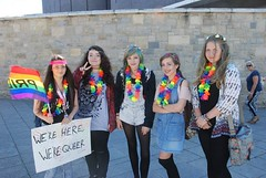 "We're Here We're QUEER - at Plymouth Pride 2015 • <a style=""font-size:0.8em;"" href=""http://www.flickr.com/photos/66700933@N06/20007908414/"" target=""_blank"">View on Flickr</a>"