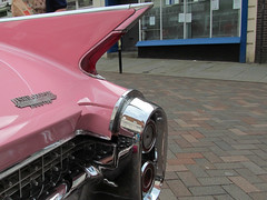 Gloucester Goes Retro Festival 2015 - Pink Cadillac Fleetwood (pefkosmad) Tags: street city uk pink england music food classic cars fashion vintage costume weekend transport fair gloucestershire cadillac retro vehicles entertainment dressingup gloucester era trucks automobiles stalls tanks eastgate fleetwood westgate kingssquare southgate northgate augustbankholiday gloucestergoesretro
