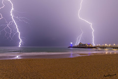 Lightning over Bournemouth Beach (mpelleymounter) Tags: longexposure storm dorset lightning bournemouth boscombepier dorsetcoast bournemouthbeach dorsetcoastline