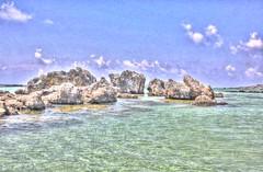 Crete - Sea at Elafonissi 1 (HDR) (Davide Schiano) Tags: sea greek islands view palace creta greece crete beaches hdr bycicles cnossos rethymnon elafonissi