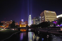 Downtown Omaha (Tiara Rae Photography) Tags: skyline night nebraska downtown omaha