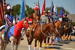 Rangerette line (radargeek) Tags: horse oklahoma flag parade american mustang ok 2015 rangerettes mustangwesterndaysparade