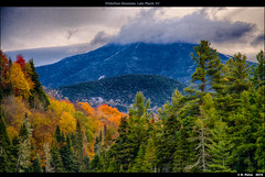 WhiteFace Mountain, Lake Placid, NY (episa) Tags: new york autumn trees mountain lake fall clouds forest state sony voigtlander adirondacks apo sl newyorkstate f4 whiteface placid lakeplacid 2015 180mm whitefacemountain lanthar voigtlanderapolanthar180mmf4sl fall2015 sonya7rii a7rii