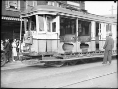 Tram smash at Bondi Junction, 1939 / by Sam Hood (State Library of New South Wales collection) Tags: statelibraryofnewsouthwales