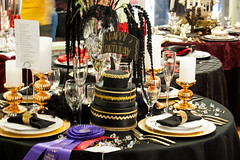 NC State Fair Oct 2015 (68) (tommaync) Tags: black cake table gold nc nikon october statefair northcarolina fair happybirthday setting decorated wakecounty ncstatefair 2015 d40