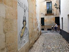 (Painter Snake) Tags: street trip travel streetart art bicycle island graffiti october artist quiet tour tourists graffity citycenter oldtown isle menorca baleares ciutadella minorca illesbalears 2015 islasbaleares paintersnake apsphotographs