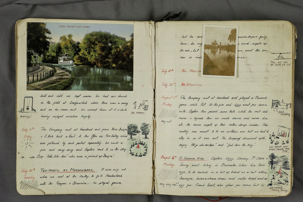 Torrance - Sheena Pirie Girl Guides Log Book - Gypsy Queen 1930