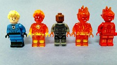 LEGO Human Torch (Wade1Wilson) Tags: lego marvel fantastic4 johnnystorm