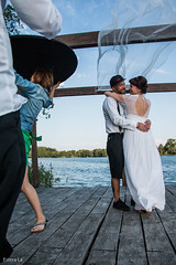 Summer Wedding (Estera La) Tags: wood wedding lake groom bride see wind polska polen session backstage hochzeit weddingphotography lubniewice