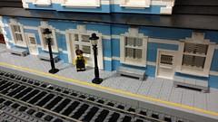 Bluebonnet Station 6 (SavaTheAggie) Tags: building station architecture train construction lego platform bluebonnet plate trains moc