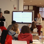 Students learn about the English major.