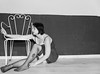 Nath (misterblue66) Tags: nathalie shooting d610 tamron 2470 noiretblanc nb bn bw chaise stoel chair