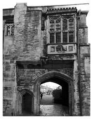 Vicar's Close, Wells (Ron's travel site) Tags: uk england blackandwhite bw monochrome mono wells somerset gb vicarsclose 2015 flickrandroidapp:filter=none nov2015 ronstravelsite wwwronsspotuk