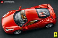 Ferrari 458 Italia (JOJO BEE PHOTOGRAPHY) Tags: red scale miniature model italia ferrari replica elite hotwheels forza rosso mattel v8 143 diecast 458