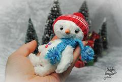 olaf snowman ooak (Zhanna Zolotina) Tags: bear toys miniature teddy ooak tiny altair teddytoyzz