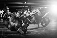 Dont touch my Honda. (O.I.S.) Tags: portrait bike sepia model parking models motorbike motorcycle teenager herford giuliana parkhaus motorrad strobist