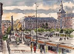 Moncloa 2015 (P.Barahona) Tags: madrid plazas urbano pluma acuarela calles moncloa urbansketchers pbarahona