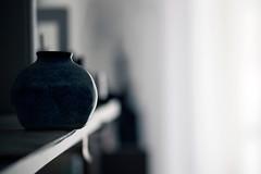 """Blue Bokeh"" (helmet13) Tags: d800e raw studies shelf selectivefocus bokeh vase blue silence balance chineseblue aoi heartaward peaceaward 100faves world100f simplicity"