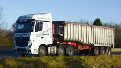 SN14 DTV (panmanstan) Tags: truck wagon mercedes motorway yorkshire transport lorry commercial newport vehicle freight mp4 bulk m62 haulage hgv actros
