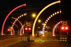 spoor bij Heeze (Jeroen Stroes) Tags: wow rail railway zug lightshow streetview spoor levelcrossing railwaycrossing prorail spoorwegovergang heeze slagbomen