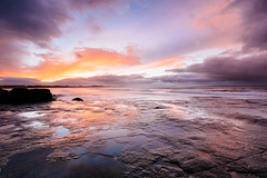 Rocky Reflections (melfoody) Tags: ocean ireland sunset reflection water clouds canon coast rocks atlantic explore shore sligo enniscrone explored 5dmkiii canon1635f4l