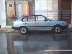 Hyundai Pony #1 (occama) Tags: old blue car malta korean pony hatch hyundai 1980s 2015