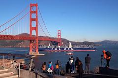 Big Ben Under the Golden Gate (photo101) Tags: sanfrancisco usa ship container shipping trade