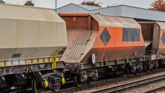 JGA (JOHN BRACE) Tags: jga hopper wagon built by tatrastroj poprad slovakia 1997 seen tonbridge station 1100 tolworth cliffe brett marine passin 1325 7 late unbranded rmc orange livery