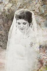 Triple Exposure Bride (Jean Loper) Tags: tripleexposure bride wedding day veil texture