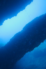 Double Arch (loose-ends) Tags: doublearch gozo dive diving mediterranean sea