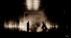 le passage (lafoto.) Tags: passage pont light homme noir noiretblanc peur travel lafoto tunnel ombre photographie photo