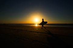 Surfer - Tel-Aviv beach (Lior. L) Tags: surfertelavivbeach surfer telaviv beach telavivbeach silhouette sunset seascapes sea surf nature travel travelinisrael israel reflection sky
