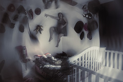 Day 3552 (evaxebra) Tags: poltergeist wall bed crib hats halloween 33daysofhalloween 33days haunted haunters possessed october octoberphotochallenge opc2016 opc evaxebra scary scared levitation paranormal