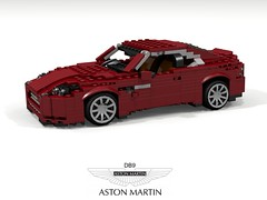 Aston Martin DB9 (Updated) (lego911) Tags: aston martin db db9 coupe 2004 vh v12 auto car moc model miniland lego lego911 ldd render cad povray lugnuts challenge lugnutsturnnine turns nine orderbynumbers anyvehiclesuitableforabondfilm spy britain british gm england bond film movie 2000s foitsop