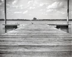 Kodak Bullet no 4 1896 Boat Dock (rrunnertexas) Tags: kodak bullet no 4 no4 boxcamera 4x5 sheet film bw texas boatdock largeformat 1896 vintagecamera