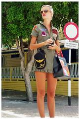 """Top Gun"" - Philipsburg, Sint Maarten (TravelsWithDan) Tags: streetphotography interestingoutfit candid blonde prettywoman philipsburg sintmaarten caribbean mobilephonephoto samsunggalaxys6 streetportrait"