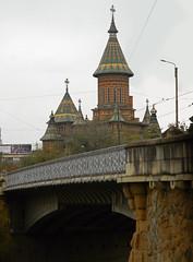 Traian Bridge and the Orthodox Cathedral, Timioara (Carpathianland) Tags: banat romania temesvr temeschwar temeschburg temeswa  arhitectura architecture szecesszi secessionsstil wiener secession sezession