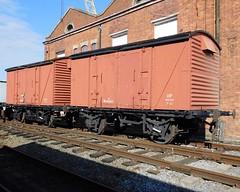 B782903 & B783709 BR 12 Ton Goods Vans (Grumman G1159) Tags: b783709 b782903 br12tongoodsvan 12tonventilatedgoodsvan goodsvan vanwide museumofscienceindustry wagon goodswagon