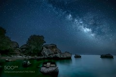 Milky way in Rhodes (southjerseseyhvac) Tags: sky city sea sunset water beach blue night sun light clouds ocean rocks stars seascape long exposure milky way wbpa